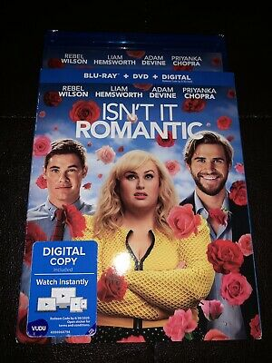 Brand New Isn't It Romantic Blu-ray + DVD + Digital with Slipcover