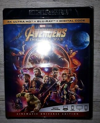 AVENGERS INFINITY WAR 4K ULTRA HD & BLURAY & DIGITAL SET Brand new sealed