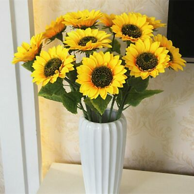 Artificial Flower Home Wedding Living Room Party Table Decor Silk Sunflowers