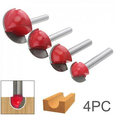 4pcs/Set Router Bits 6-handle Round Nose Cove Core Cutter Tool Woodworking New