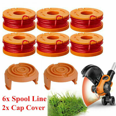 WORX WA0010 Replacement Spool Line for Grass Trimmer Edger 10feet with Cap Cover