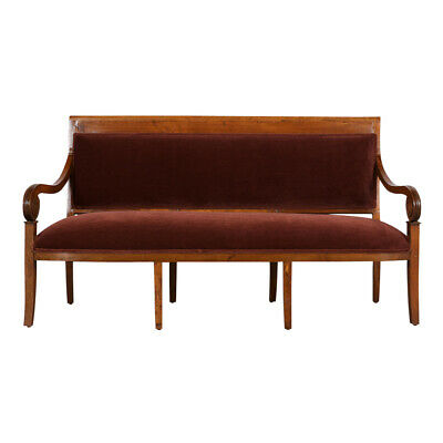 Restored 1830's C French Louis Philippe Style Sofa /Bench New Fabric Solid Wood
