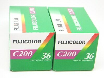 2x FUJI FUJICOLOR C200 35mm 36exp CHEAP COLOR PRINT FILM by 1st CLASS ROYAL MAIL