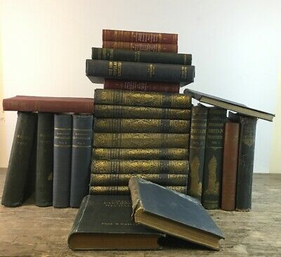 Large Collection Of Antique Hardback Educational Books To Include Encyclopedias.