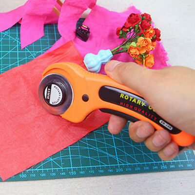 45mm Circular Rotary Cutter Blade Patchwork Fabric Leathers Craft Sewing Stylish