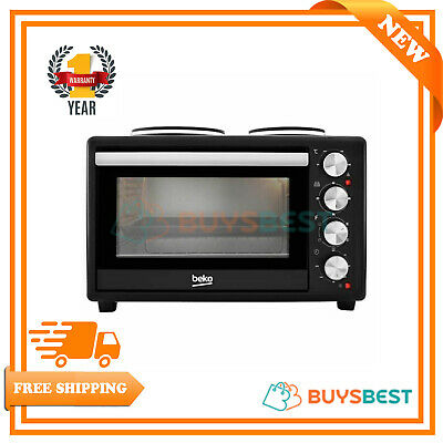 Beko Mini Microwave Oven & Hob In Black - MSH28B
