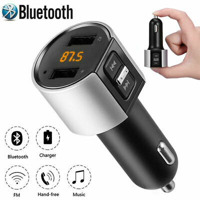 KFZ Bluetooth FM Transmitter Auto Radio MP3 Player 2 USB SD AUX Freisprechanlage