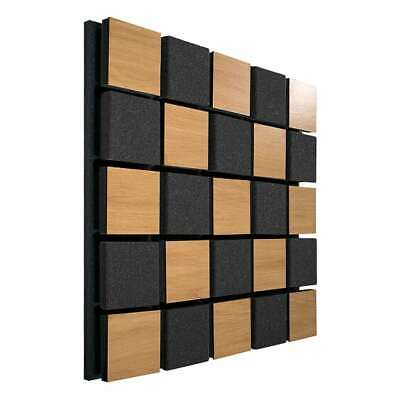 "2pcs 50x50x5,5cm Ecosound Tetras Acoustic Wood ""Chess grid"""
