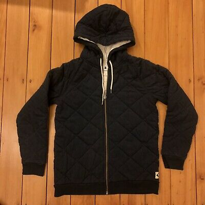 Boys Country Road Navy Hooded Quilted Jacket Sz 12