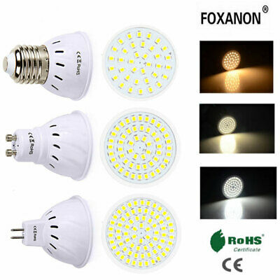 BOMBILLAS LED Luces de Foco 3w 5w 7w MR16 GU10 E27 2835SMD Lámpara 220v