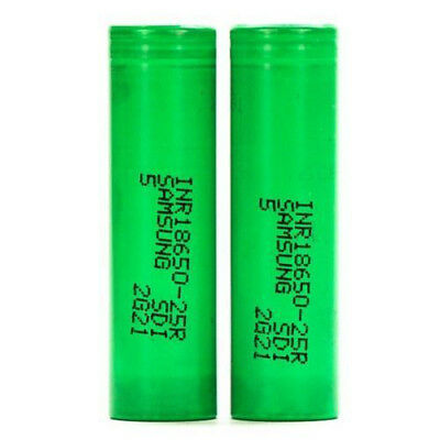 2x For SAMSUNG 25R INR18650-25R 2500mAh 20A HighDrain IMR Rechargeable Battery