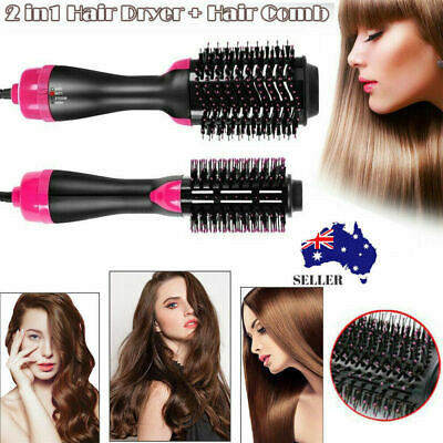 2 in 1 Pro Salon One-Step Hair Dryer and Volumizer Comb Oval Brush Design AU