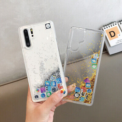 App Icon Dynamic Liquid Glitter Quicksand Clear Case Cover For Phone Cellphones