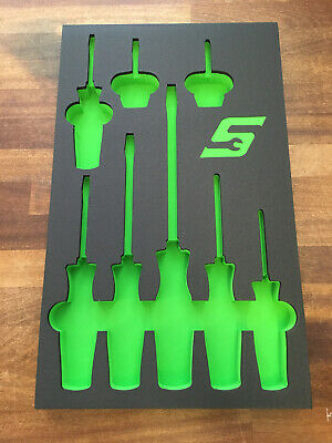 Snap-On Tools Green 8pc Tool Bed Foam Module TBSHDX80FL for SHDX80L Brand New