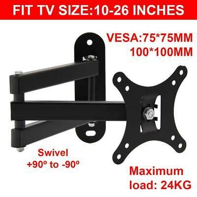 TV Wall Mount Bracket Tilt Swivel 14 16 18 20 21 22 23 24 26 27 LCD LED PLASMA