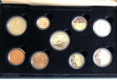 Central Bank Ireland Euro Proof 2009 Coin Set Nine Coins