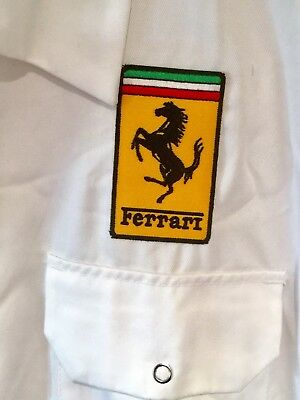 "BARGAIN! Fine Goodwood Revival Classic Vintage Ferrari Badged Overalls 50"" Chest"
