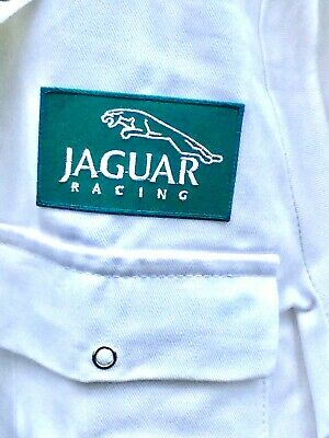 "Rare Fine Goodwood Revival Vintage Style Jaguar Racing Badged Overalls 42"" Chest"