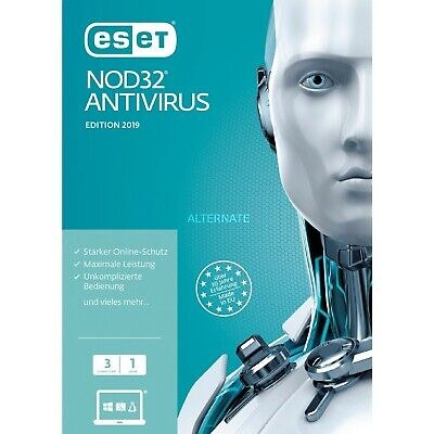 ESET NOD32 ANTİVİRÜS 1 PC 1Jahre 2019 last version