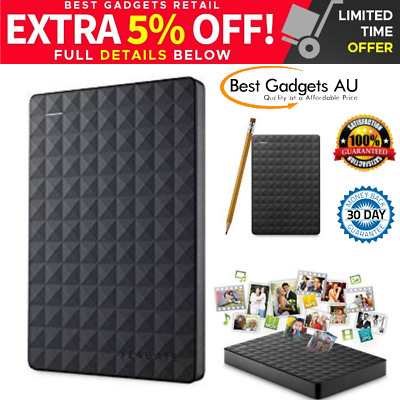 Seagate External Expansion Portable Hard Drive 2TB BLACK USB HDD STEA2000400 NEW