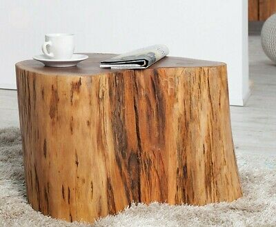 Massif Bois Tronc D Arbre Table Basse 50cm Table De Salon Table Table D Appoint