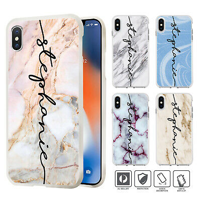 Personalised Marble Case Cover For iPhone 11 Pro XS MAX XR X 8 7 SE 6 6S Plus 97