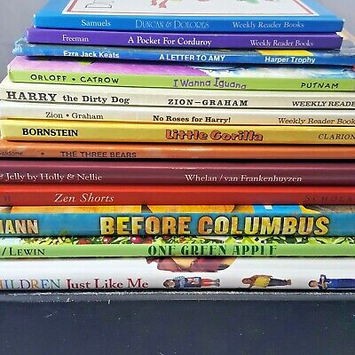 Childrens hardcover book lot 13 bedtime story bundle elementary reading English