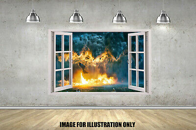 Game Of Thrones Dragon 3D Window Childrens Wall Stickers Decals Vinyls 4 Sizes