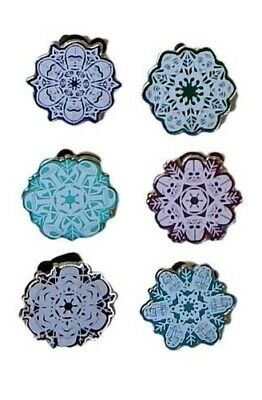 Star Wars Themed Snow Flakes 6 Specific Disney Park Trading Pins Set ~ Brand NEW