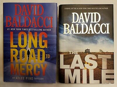 Long Road to Mercy The Last Mile by David Baldacci 2018 Hardcover Lot of 2