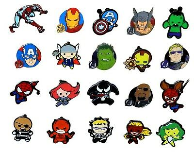 Marvel Avengers Themed 5 Disney Trading Pins ~ Randomly Assorted ~ Brand NEW