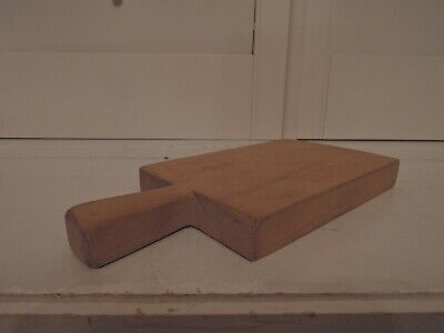 Vintage French Wooden Cutting Bread Board Thick Wood Nice Patina Cheese