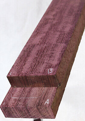 "Figured Purpleheart guitar neck blank 3.5x27.5x1"" PHN01"