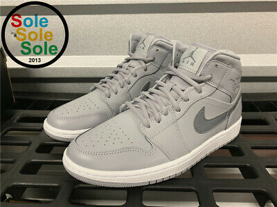 56be42fe2a3 AIR JORDAN 1 Retro Mid Basketball Shoes Cool Grey & White Sz 13 NEW ...