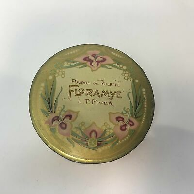 Vintage French FLORAMYE POUDRE DE TOILETTE Cosmetic Powder - Containing Original