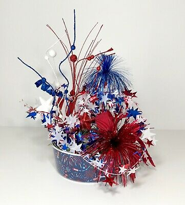 Red White Blue 4Th Of July Bowl Patriotic Centerpiece Party Decoration New