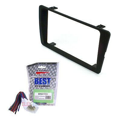Dash Mounting Kit Double DIN with Wiring Harness for Honda Civic 2001-2005