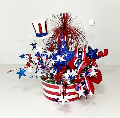Independence Day 4Th July Bowl Patriotic Small Centerpiece Party Decoration New