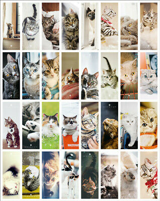 Set Of 32 Cute Cats Themed Paper Bookmarks - Cat Book Markers