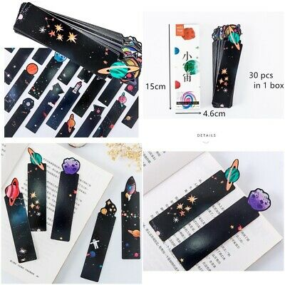 Space Planets Galaxy Themed Paper Bookmarks - 30 Piece Bookmarker Set