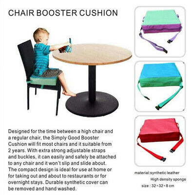 Baby Kids Chair Booster Cushion Highchair Increase Height Seat Pad