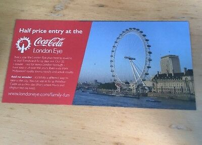 London Eye Discount Tickets - One Voucher Allows Up To 5 People At 50% Off