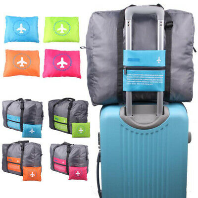 Portable Carry Waterpoof Foldable Travel Luggage Baggage Storage Duffle Bag Blue