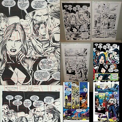 1996 DC comics ORIGINAL artwork STEEL man of Steel SHELLSHOCK 3 pages HOTSPOT