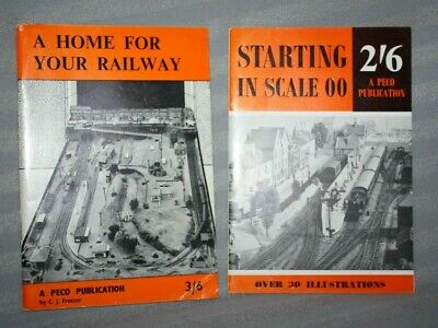 2 Vintage PECO Booklets, Starting in Scale & A Home for your Railway, Trackplans