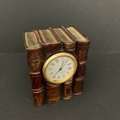 Vintage The Original Book Works Desk Mantle Clock - Spares - 7cm tall