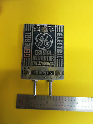 GENERAL ELECTRIC 1940's UARTZ CRYSTAL OSCILLATOR FREQUENCY 1100.625 KC RARE