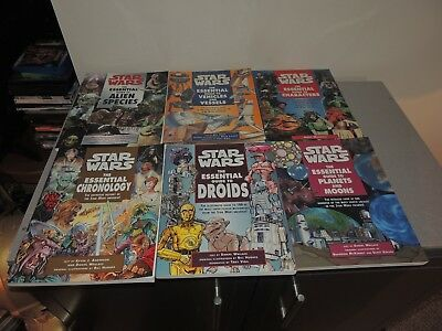 Lot of 6 Star Wars Essential Guides Books