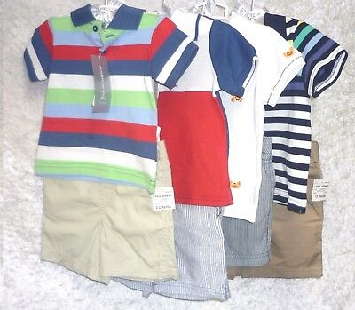 First Impressions Baby Boys Polo Shorts Set 2 Piece size 6-9M 12M 18M NEW
