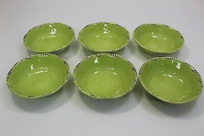"Tommy Bahama Crackle Melamine Salad Soup BOWLS 7"" Set of 6"